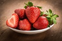strawberries-on-white-plate